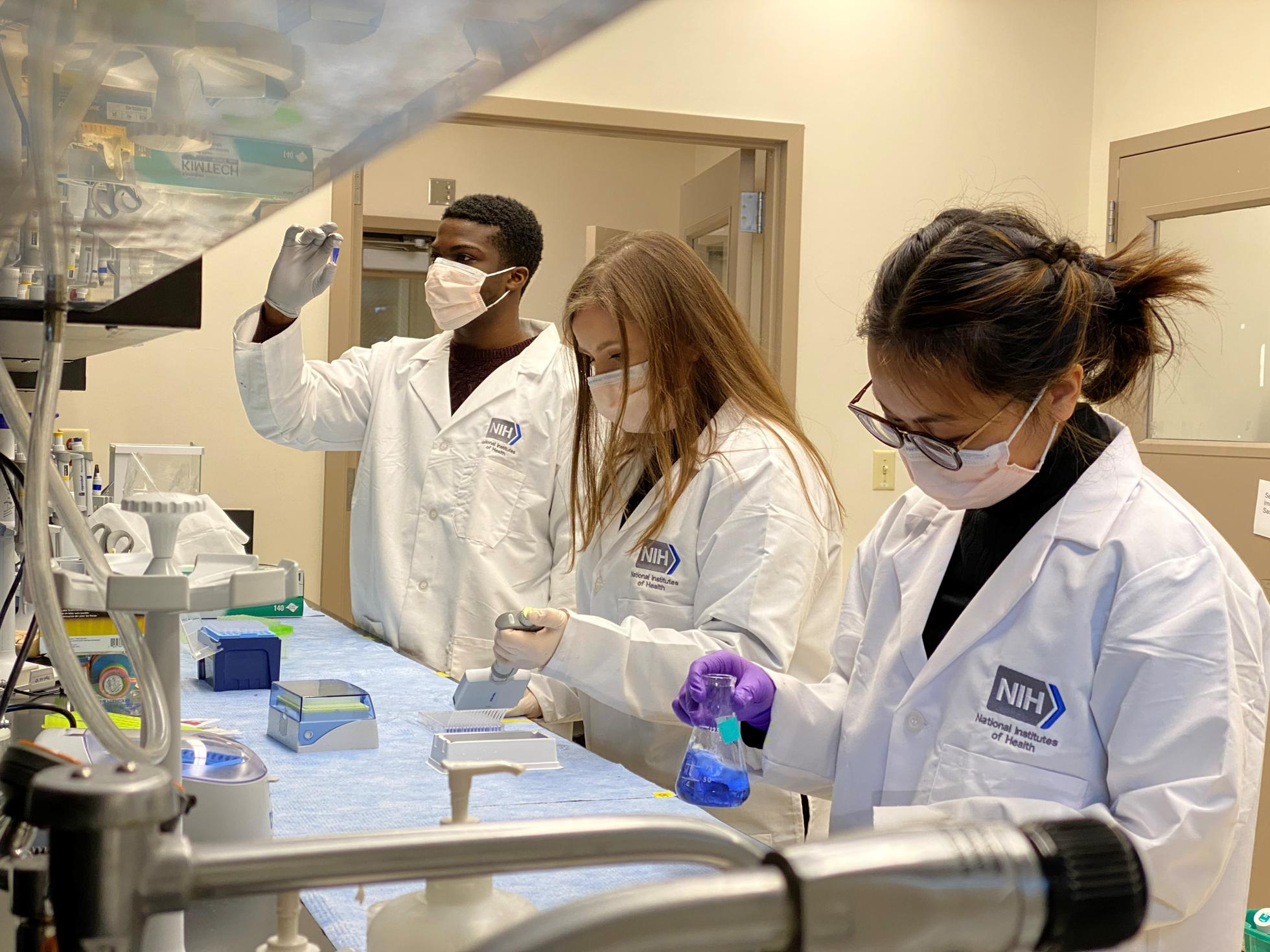 NIH scientists in the lab
