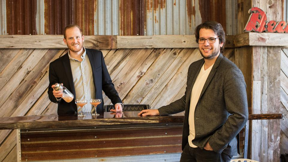 Drizly co-founders Justin Robinson and Nick Rellas