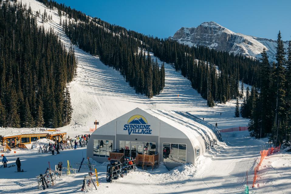 New tent structure at Banff Sunshine Village