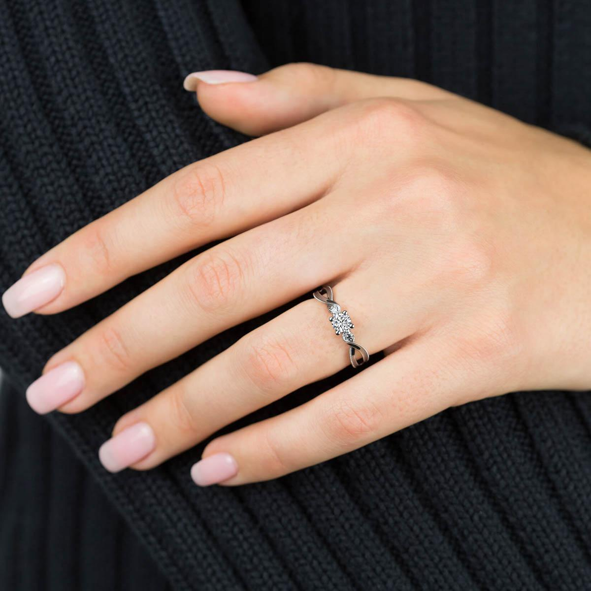 with clarity engagement ring