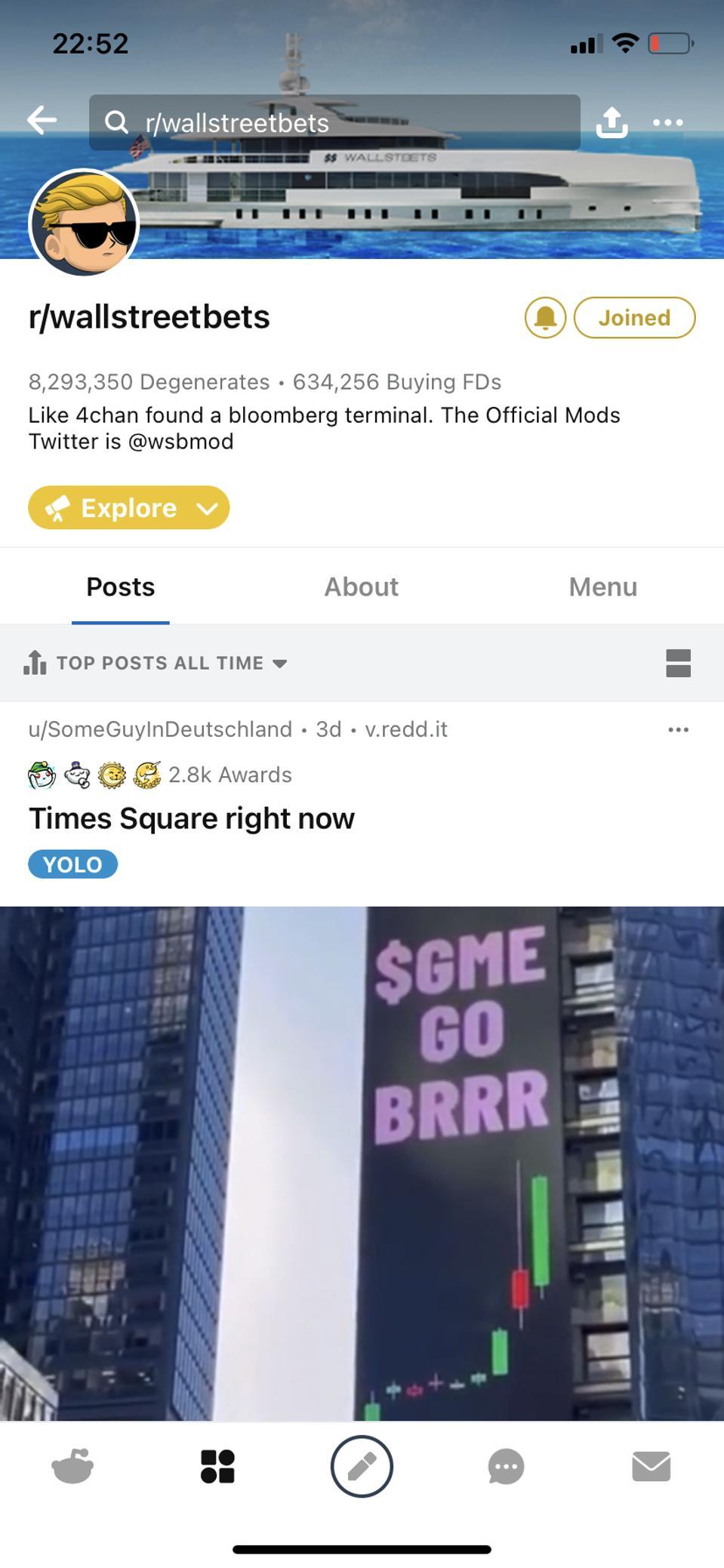 Wallstreetbets, reddit, Gamestock, Stonks,