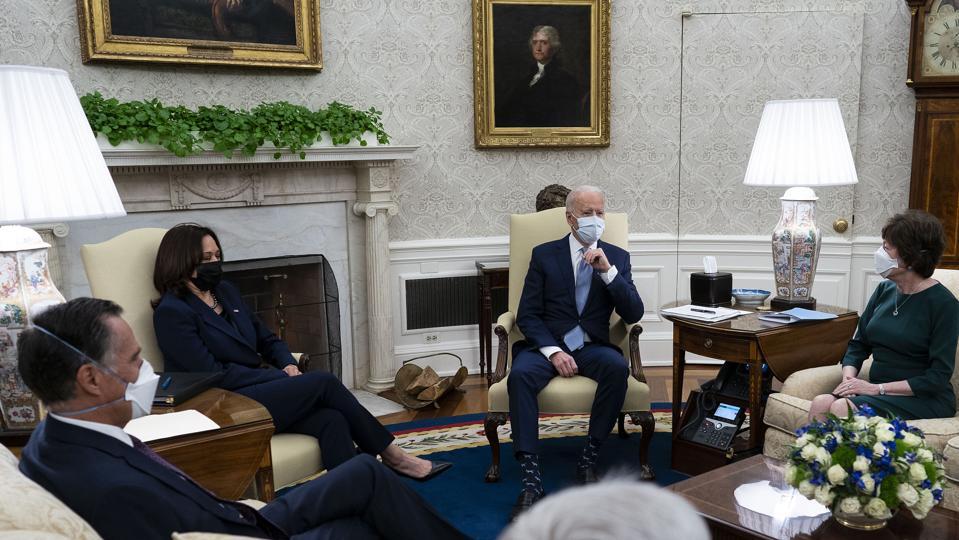 President Biden And VP Harris Meet With GOP Senators To Discuss American Rescue Plan
