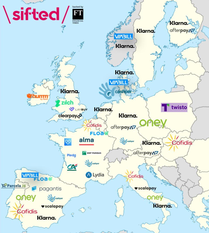 European BNPL landscape, Sifted.
