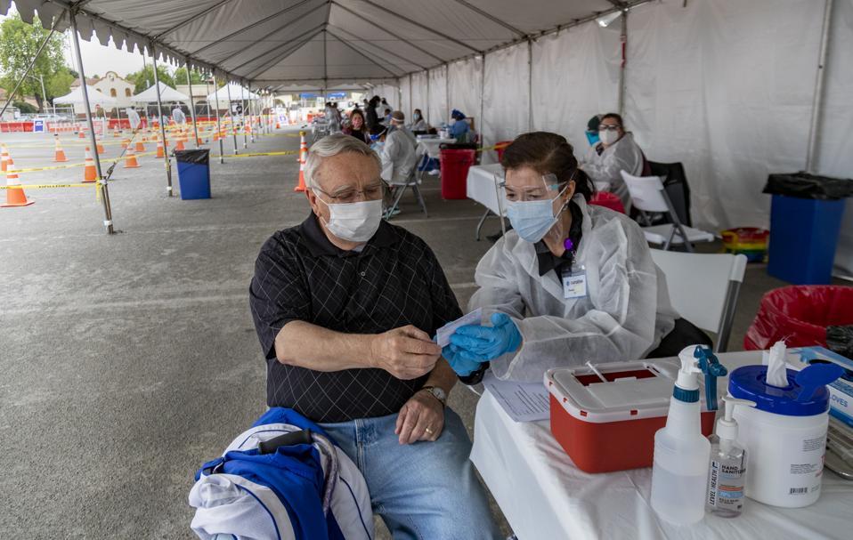 Vaccination site in Riverside,CA.