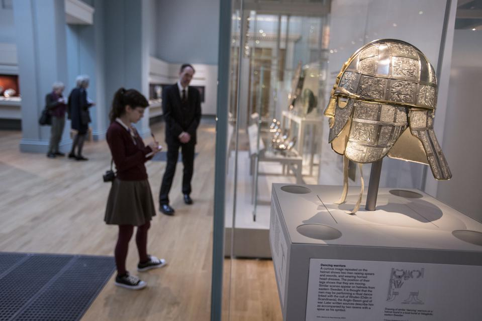 Sutton Hoo Treasure Displayed At The British Museum