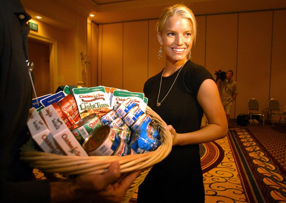 Jessica Simpson Visits Chicken Of The Sea Conference