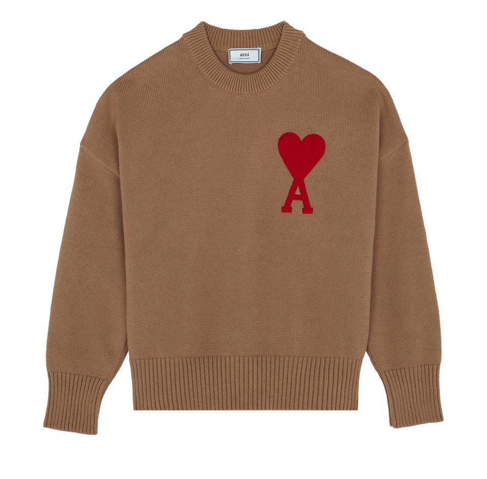 Oversize Ami de Coeur Sweater in wool.