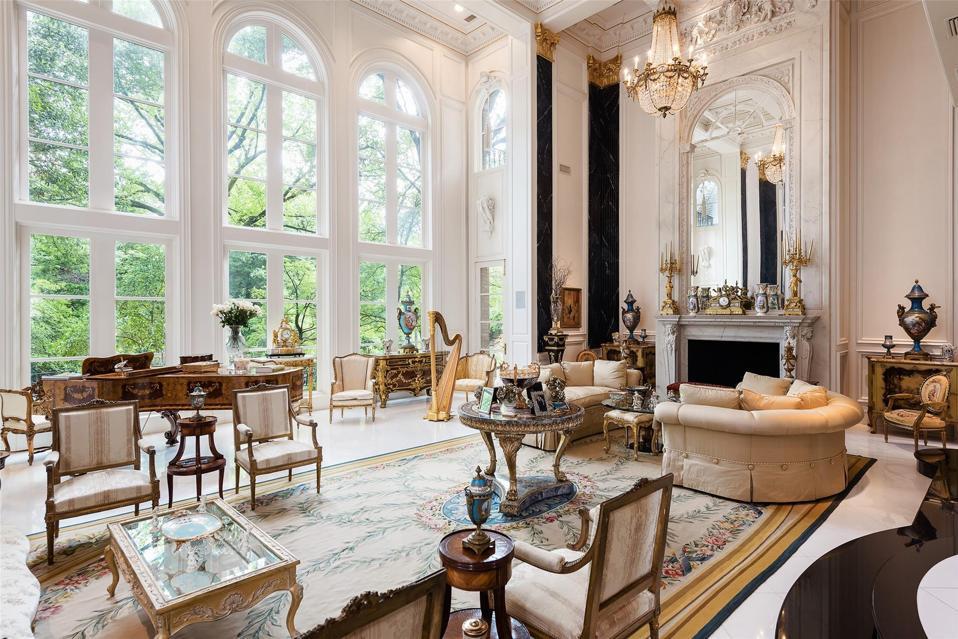 Massive formal living room holds hundreds