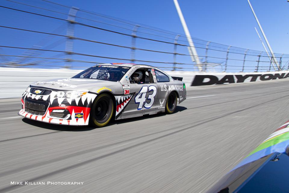 Nascar on track at Daytona