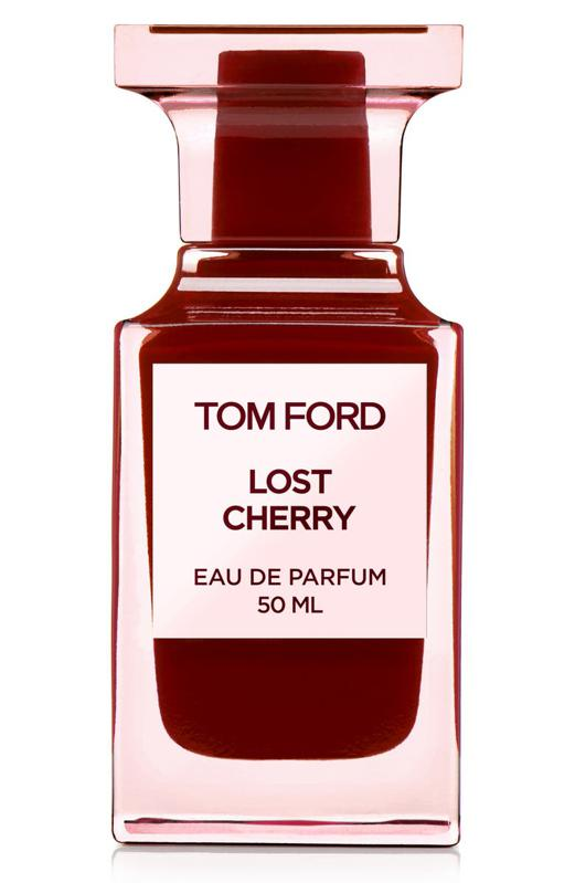 Tom Ford's Lost Cherry fragrance in red.