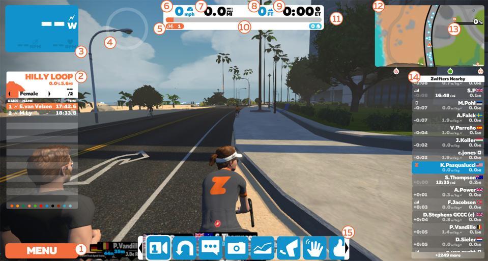 A Zwift screenshot.
