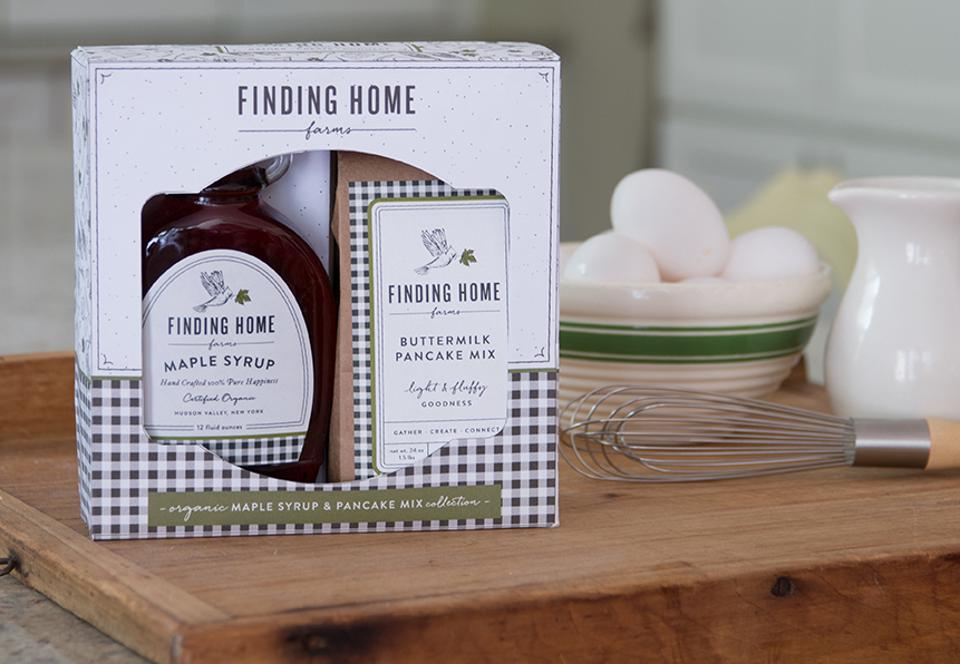 Boxed Organic Maple Syrup and Pancake Mix Gift Set from Finding Home Farms