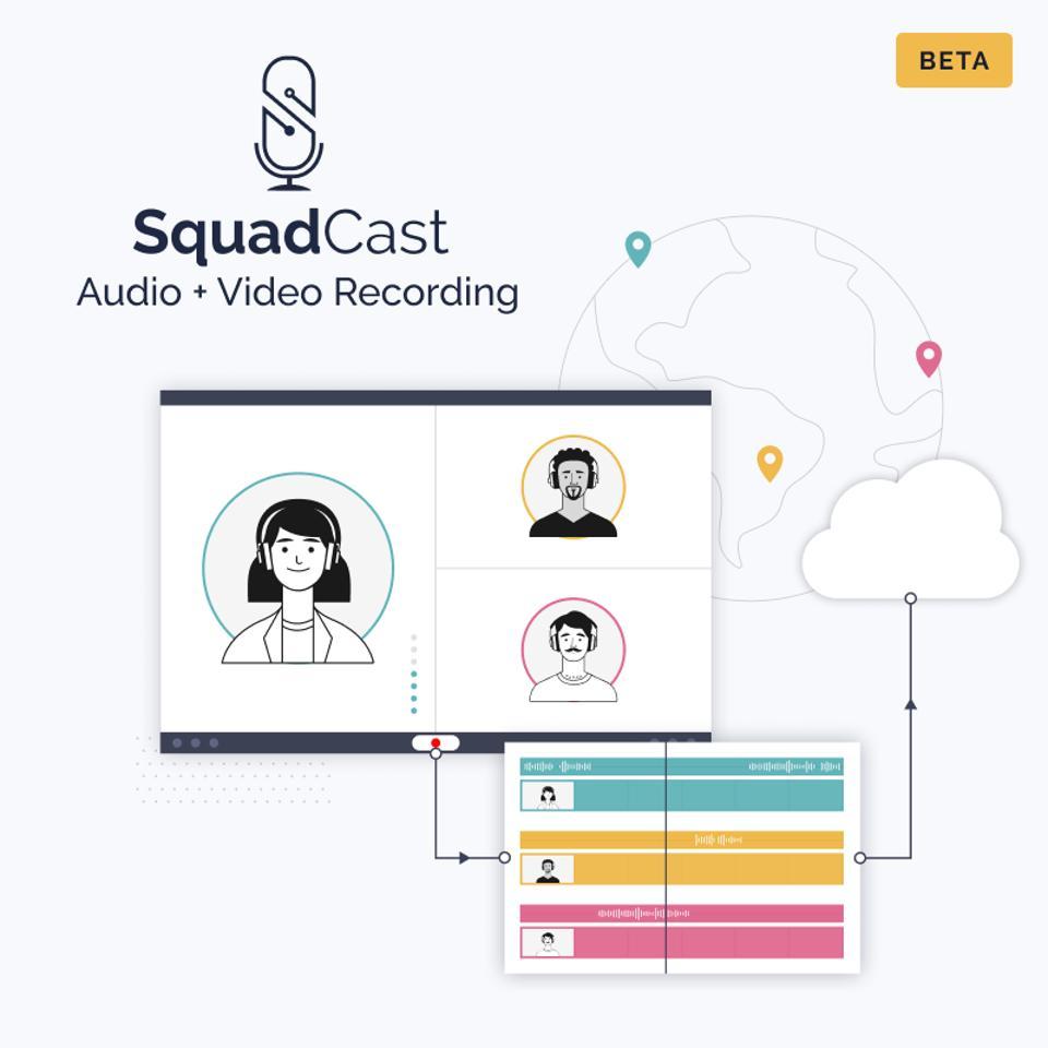 Screengrab of Squadcast