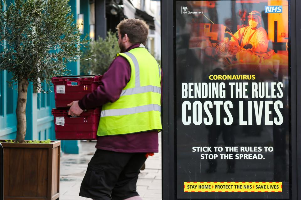 Sainsbury's delivery driver, covid-19, supermarkets