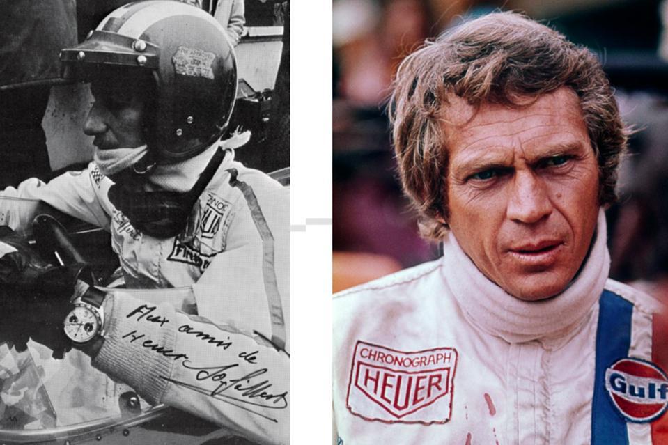 Jack Heuer further cemented his brand's link to Porsche with a creative sponsorship arrangement with legendary Swiss racing driver and Porsche dealer Jo Siffert.