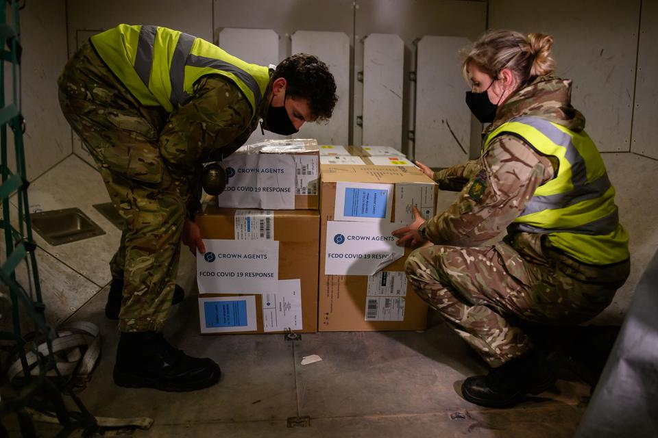 Covid Vaccines Heading For The Falkland Islands Are Loaded For Flight