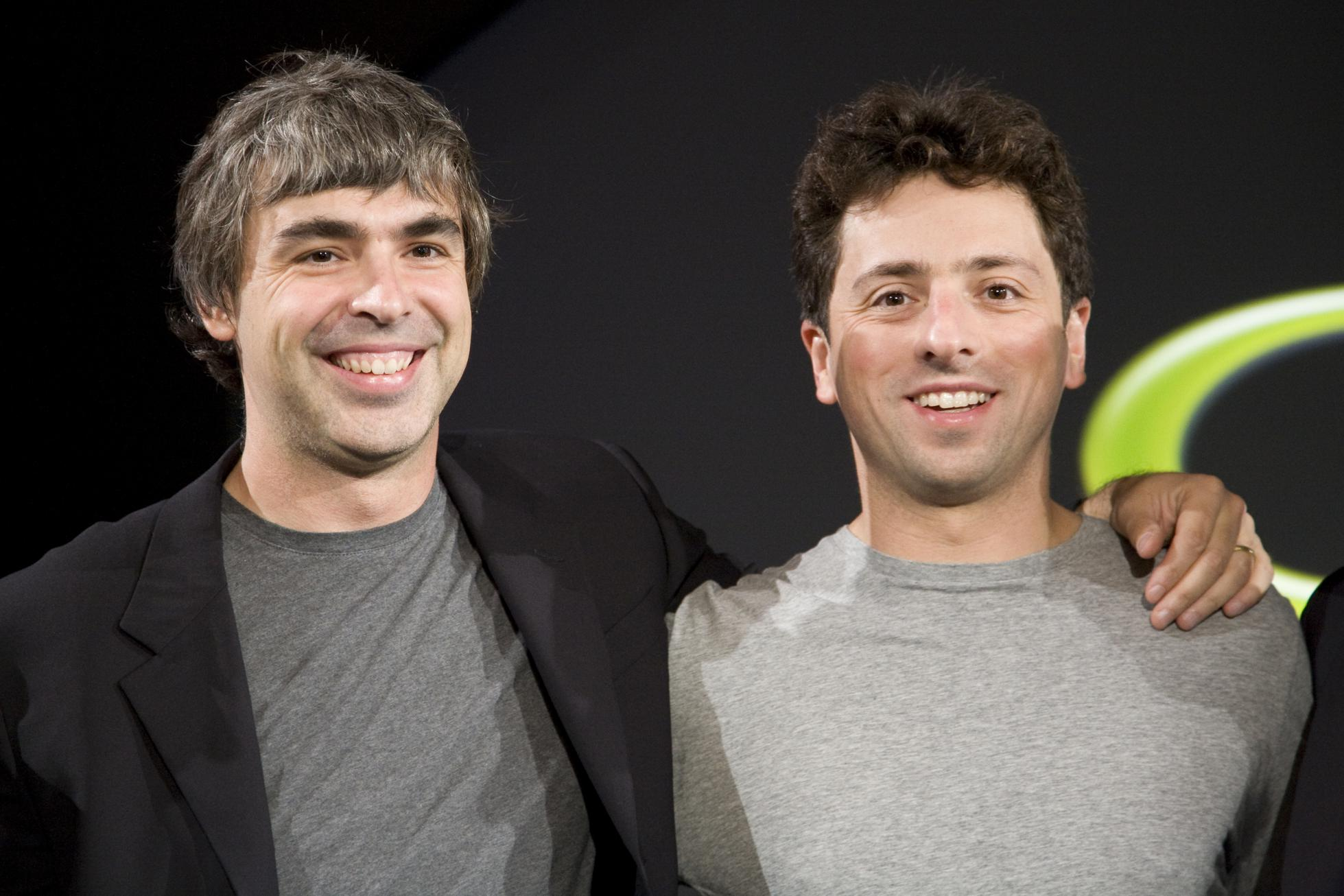 Google cofounders Larry Page and Sergey Brin.