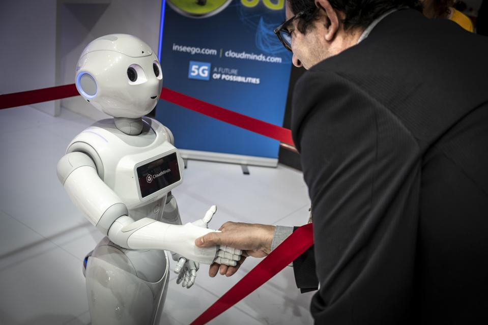 The humanoid robot Pepper of the American company CloudMinds...