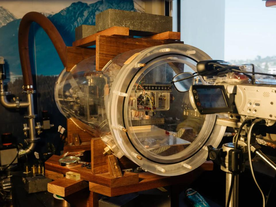 The testbed for James Woodard's Mach Effect propellantless space drive.