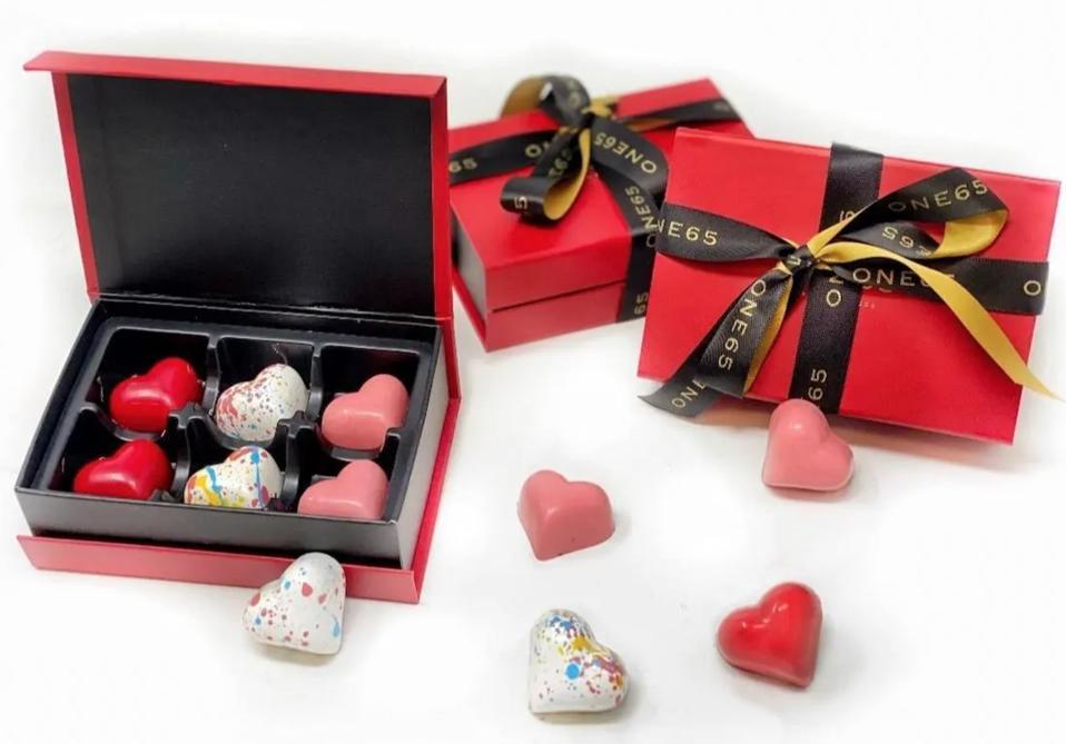 Heart-shaped chocolates