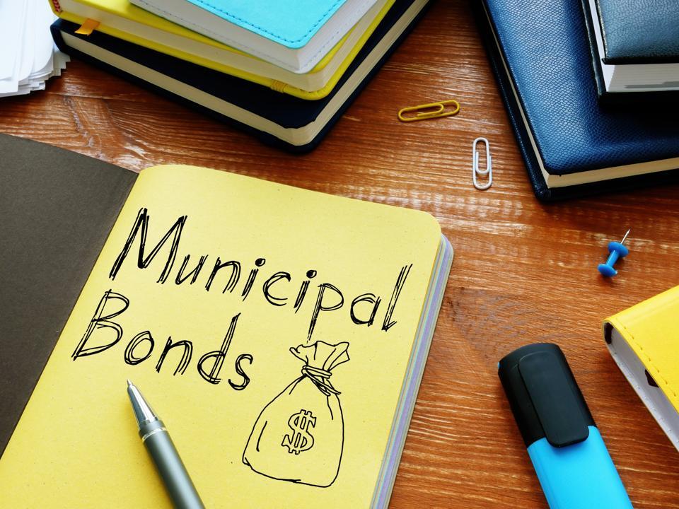 Municipal bonds is shown on the conceptual business photo