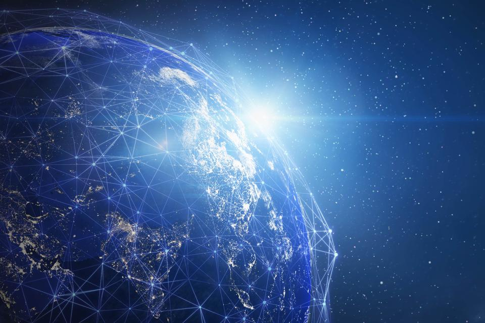 Global Network (World Map Credit to NASA)