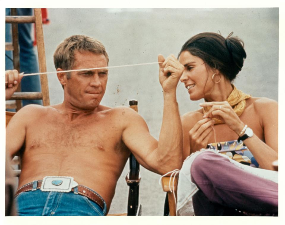 Steve McQueen And Ali MacGraw In 'The Getaway'
