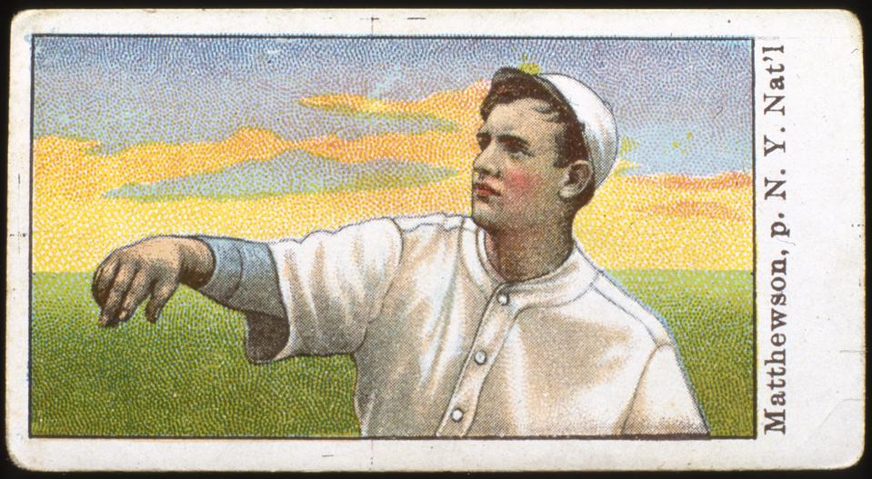 Christy Mathewson Candy Card