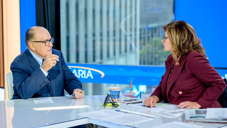 Rudy Giuliani Visits ″Mornings With Maria″ with Maria Bartiromo Fox News