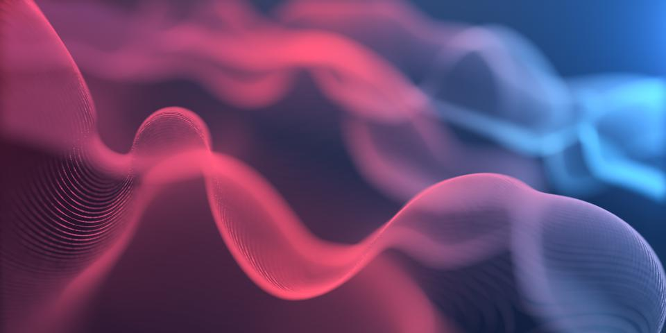Motion Abstract background,Abstract Wave line Infinite Loop for Business science and Technology