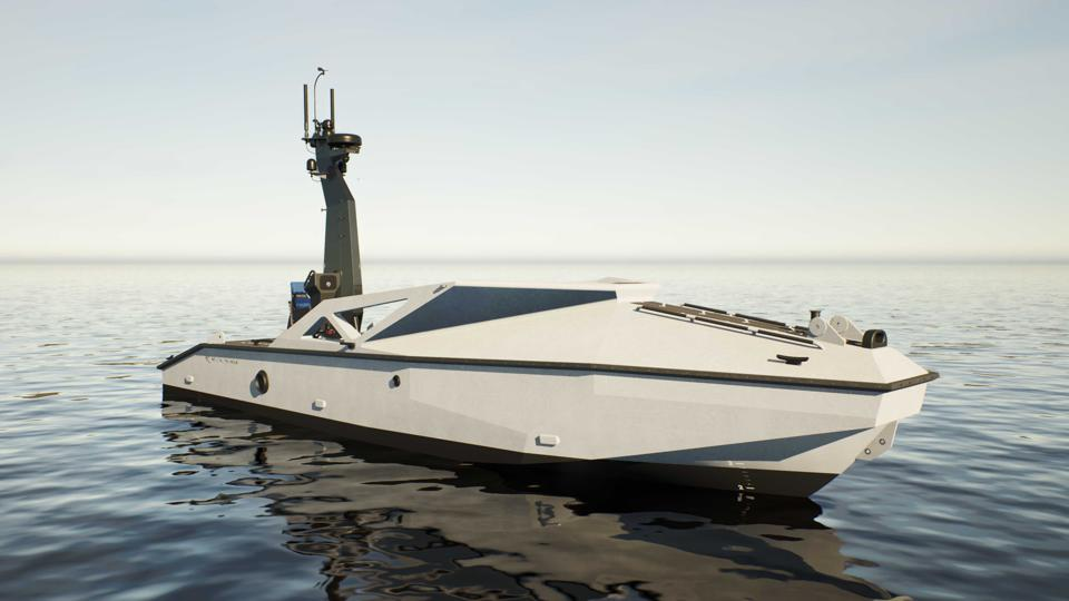 Robot boat.  - 960x0 - Robot Motherships To Launch Drone Swarms From Sea, Underwater, Air And Near-Space