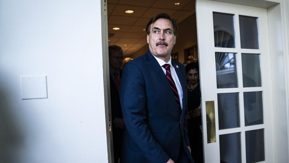 MyPillow CEO Mike Lindell at White House briefing