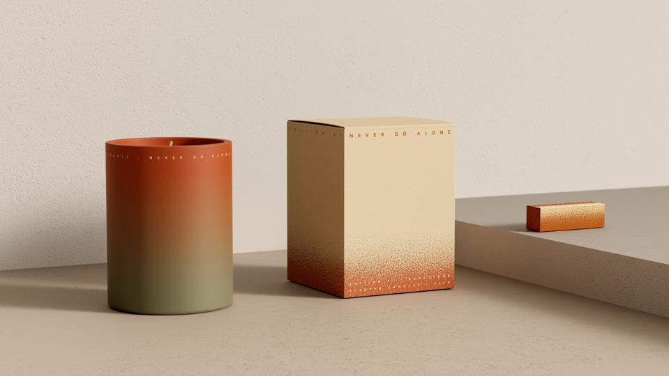 N.G.A. Never Go Alone ″Edition 01: Sandstone″ candle and matchbox