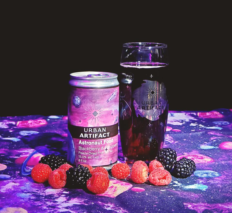 Urban Artifact, a Cincinnati craft brewery known for its fruity sours, has gone a step further with Astronaut Food, a series of sours with freeze-dried fruits.