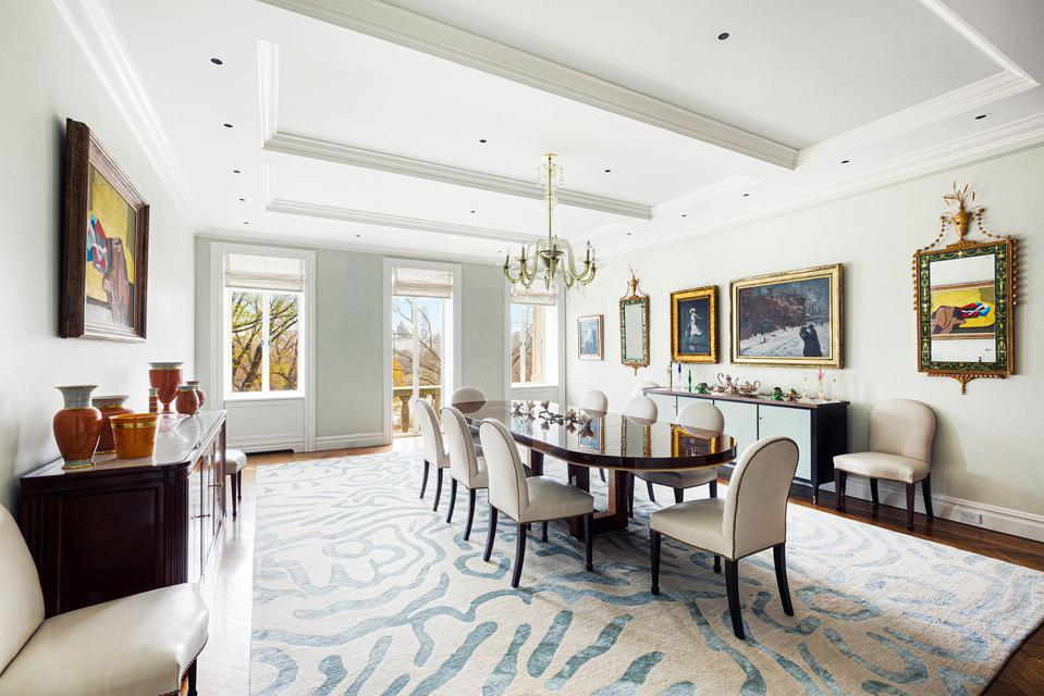 dining room inside 145 Central Park West 4C at san remo in new york city