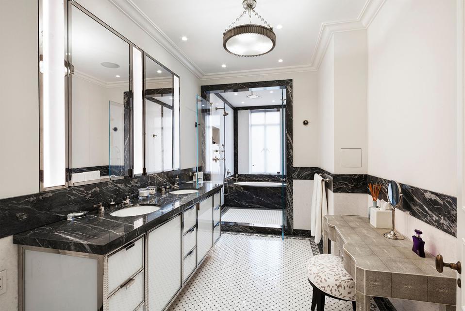 bathroom inside 145 Central Park West, 4C san remo building new york city