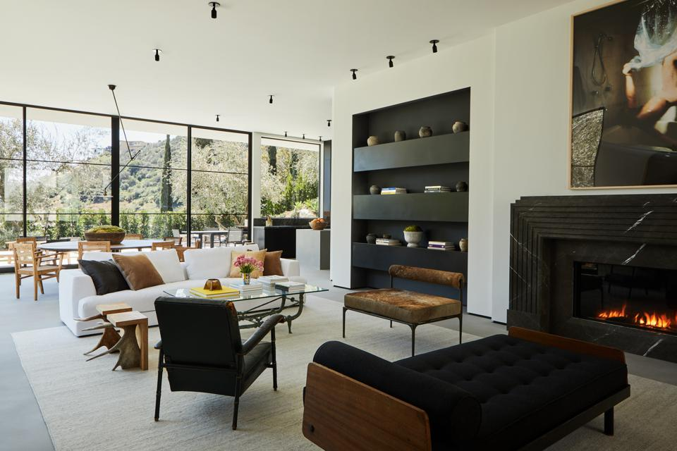 living room in bobby flay's new home in los angeles