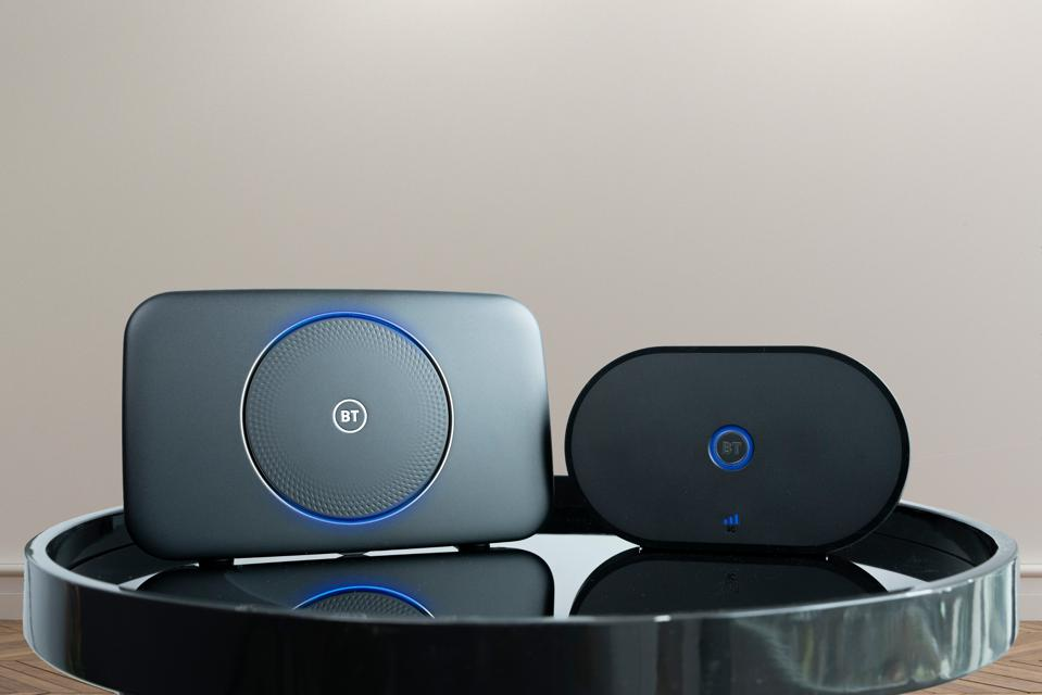 BT Smart Hub 2, left, and the new Hybrid Connect.