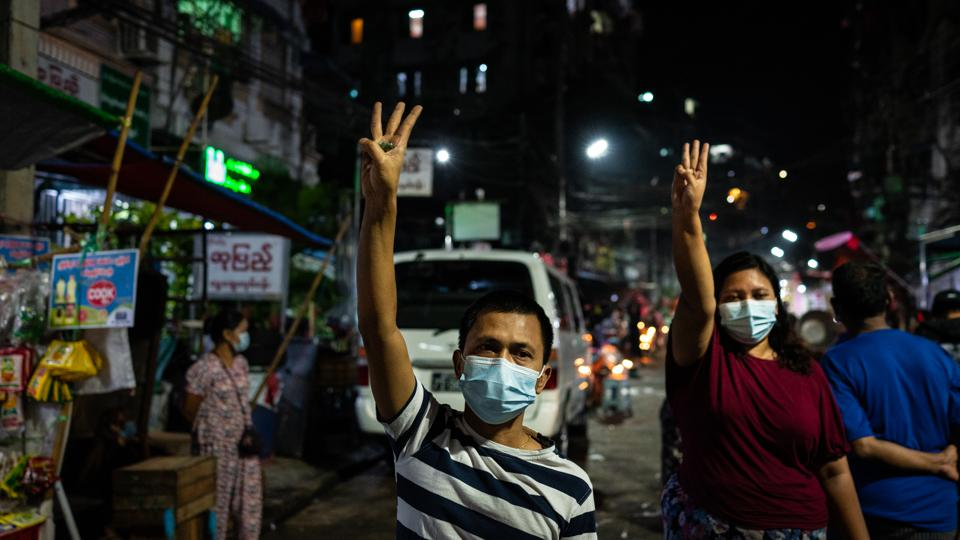 Myanmar People Continue Their ″Make Noise″ Campaign Against Military Coup