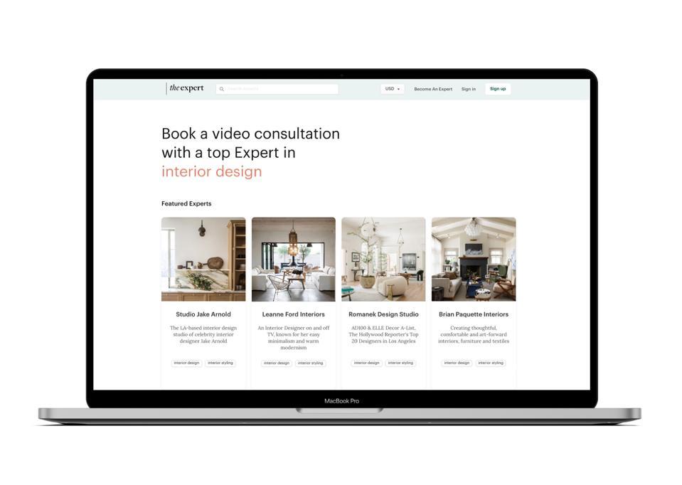 A screenshot of The Expert's digital platform.