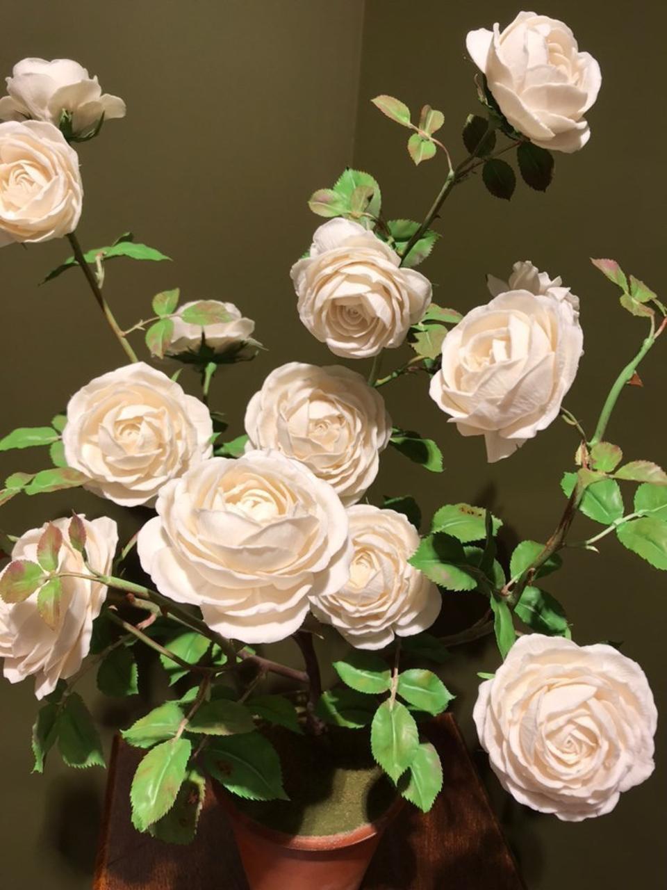 Porcelain flowers for Valentine's