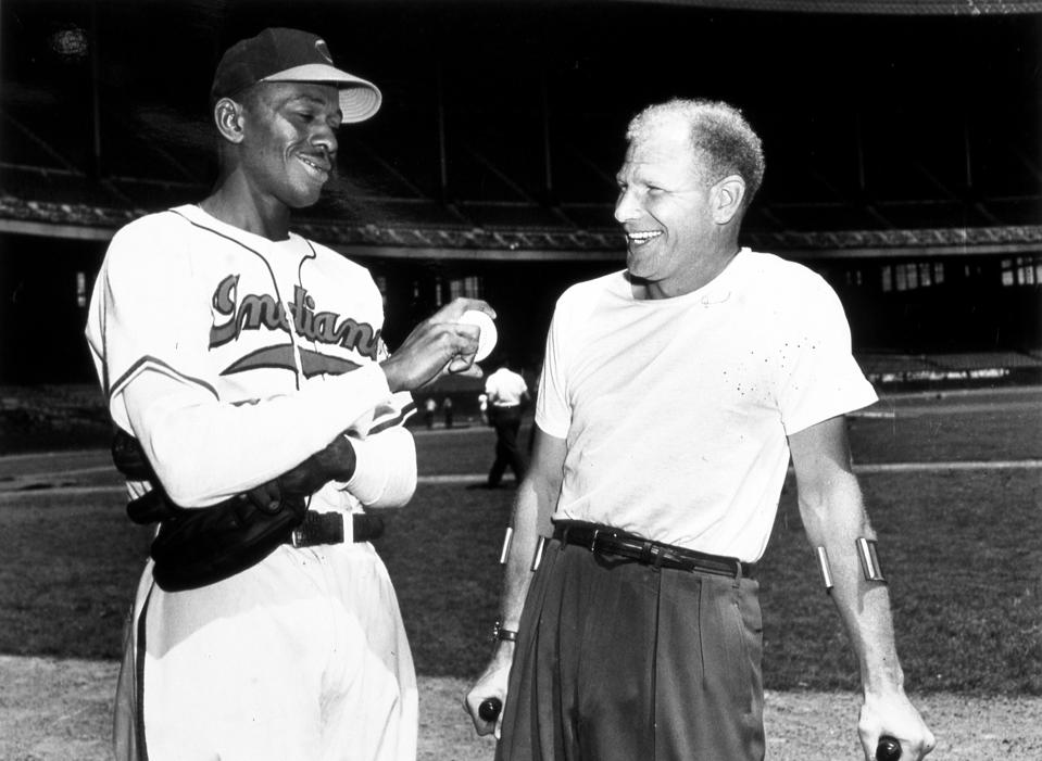 Satchel Paige and Bill Veeck Cleveland 1949