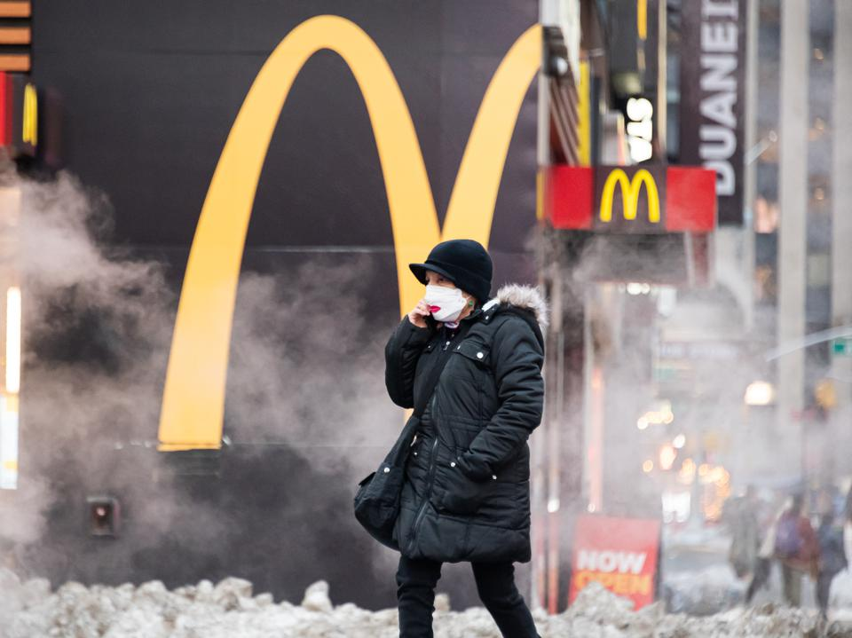 McDonald's in Times Square on February 5, 2021 in New York City.