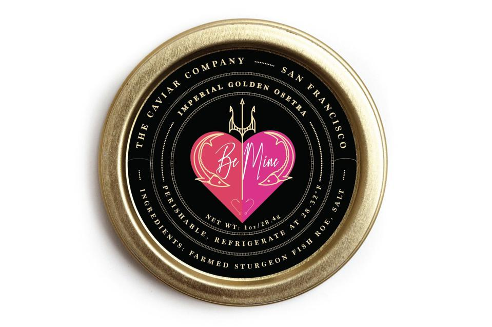 The Caviar Co Valentine's Day Imperial Golden Russian Osetra Caviar