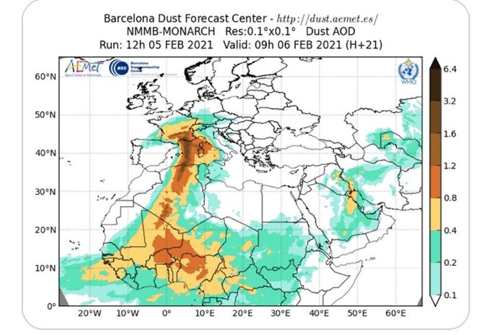 Dust forecast