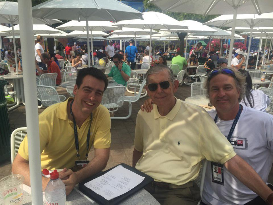 Kevin Armstrong, Tom Konchalski and Adam Zagoria at the U.S. Open.