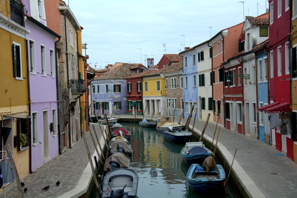 The colorful island of Burano in Venice