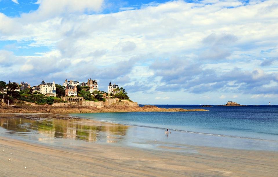 Brittany coast in Dinard, France.