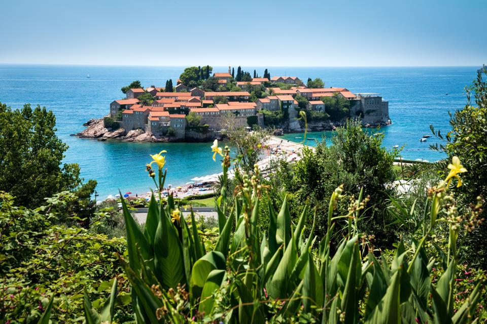 Island of Sveti Stefan, Budva, Montenegro