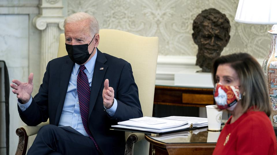 President Biden And VP Harris Meet With House Leaders On American Rescue Plan